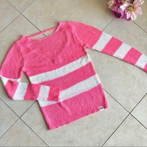 VS PINK Pink/White Stripe Stripe w/ Cutout Back XS